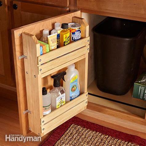 cabinet door storage rack  family handyman