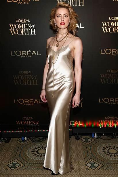 Amber Heard Paris Worth Celebration Oreal Satin