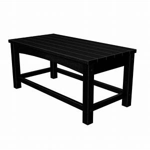 polywood club black patio coffee table clt1836bl the With black metal outdoor coffee table