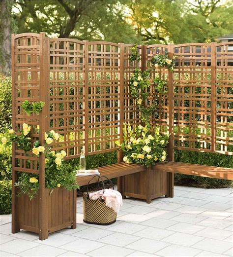 Backyard Privacy Screens Trellis by This Outdoor Eucalyptus Privacy Trellis And Square