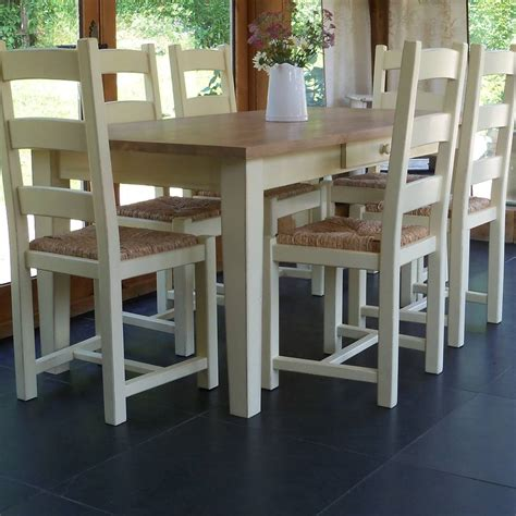 shaker farmhouse table and chairs painted by rectory