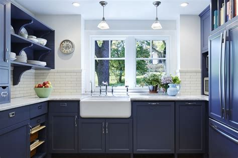 navy blue bottom kitchen cabinets beautiful blue kitchen cabinet ideas