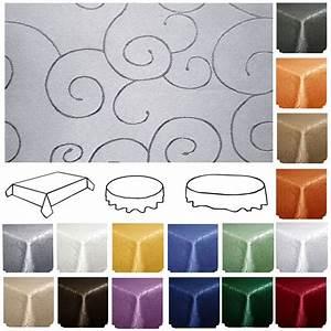 Abwaschbare Tischdecke Rund : tischdecke ornamente eckig rund oval damast pflegeleicht ~ Michelbontemps.com Haus und Dekorationen