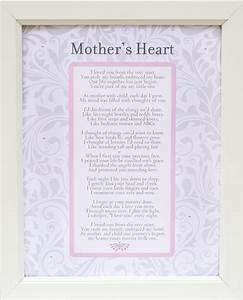 Mother's Heart Poem Frame 11x14 White