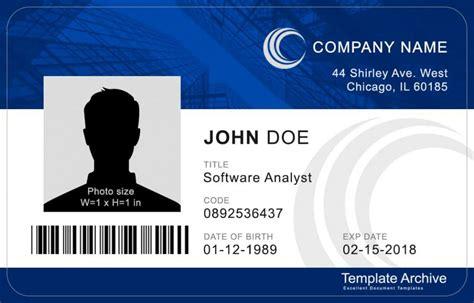 create id card template 16 id badge id card templates free template archive