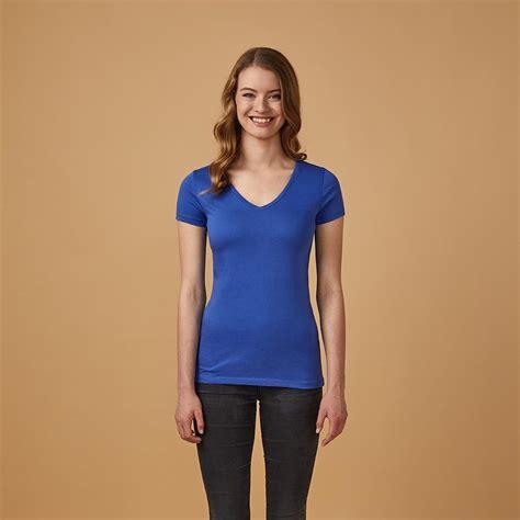 shirt v ausschnitt damen v neck t shirt f 252 r damen x o by promodoro we are casual