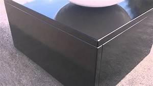 Meuble Bois Et Noir : meuble salle de bain en bois massif nado laqu noir 40cm ~ Melissatoandfro.com Idées de Décoration