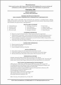 dental assistant resume template great resume templates With dental assistant resume sample