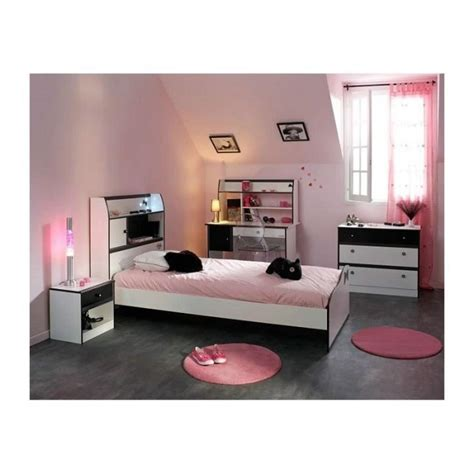 chambre fille 4 pièces avec bureau disco et blanche