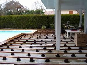 Plot Plastique Terrasse : terrasse bois sur plot plastique diverses ~ Edinachiropracticcenter.com Idées de Décoration