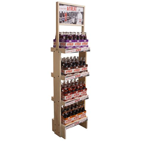 Display Racks by Customized Wood Display Rack Branded Pop Displays Custom