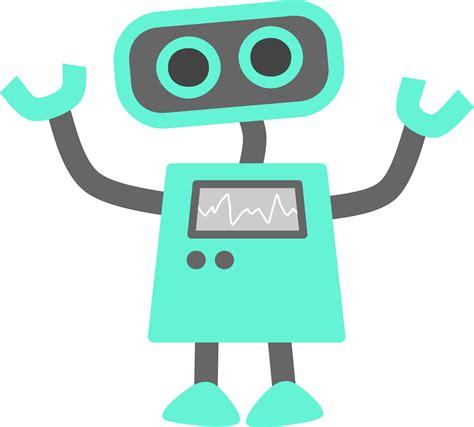 Blue Robot Vector Art Image  Free Stock Photo Public