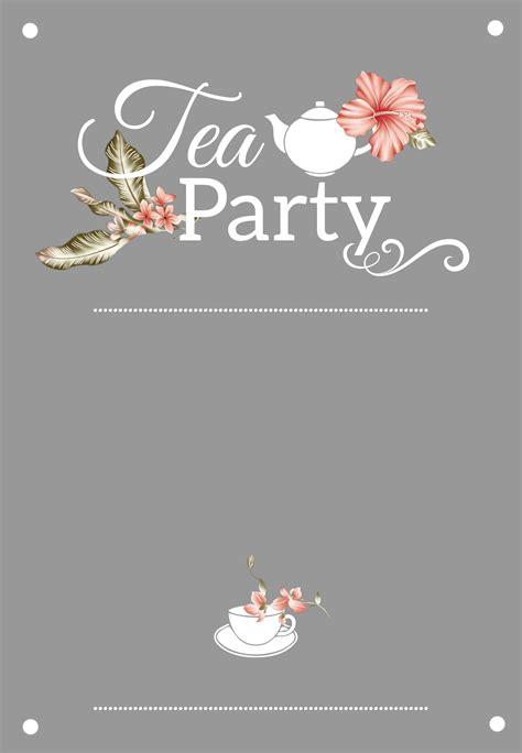 bridal shower tea party  printable bridal shower