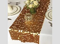 Gold Sequin Table Runner Dazzle Square Sequin Wedding Table