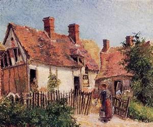 Eragny Art De Vivre : old houses at eragny 1884 camille pissarro ~ Dailycaller-alerts.com Idées de Décoration