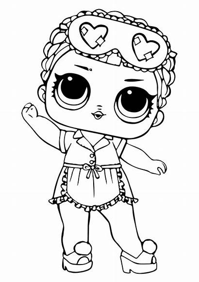 Lol Coloring Surprise Pages Dolls Sleeping Printable