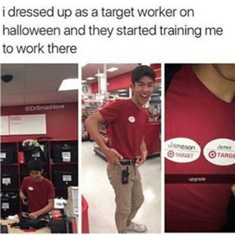 Meme Dress Up - i dressed up as a target worker on halloween and they