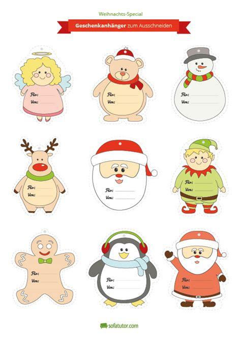 geschenkanhänger weihnachten ausdrucken weihnachtliche geschenkanh 228 nger zum ausdrucken