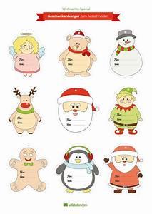 Weihnachtsgeschenke Zum Ausmalen : weihnachtliche geschenkanh nger zum ausdrucken ~ Watch28wear.com Haus und Dekorationen