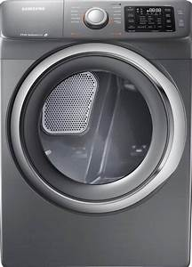 Samsung 7 5 Cu  Ft  Electric Dryer With Steam In Platinum-dv42h5200ep