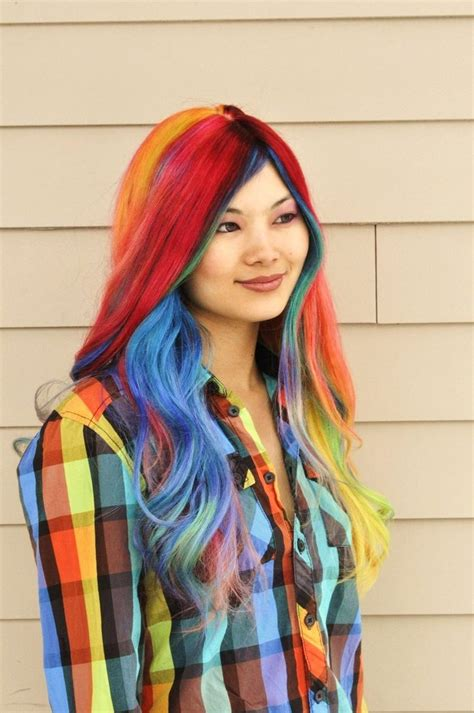 200 Best Images About Rainbow Hair Collection On Pinterest