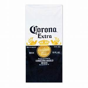corona extra beer bottle beach towel With corona beer label