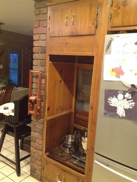 Double wall oven converted to a Pantry : DIY
