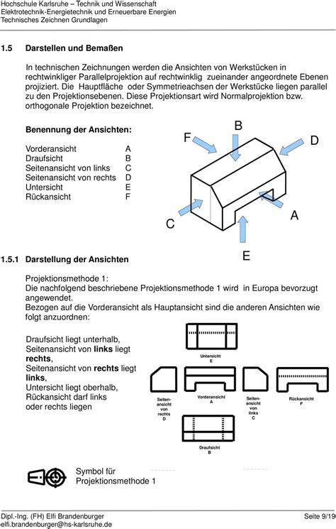 technische zeichnung ansichten technisches zeichnen grundlagen pdf