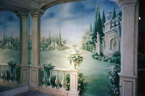trompe l oeil murals for gabberts galleria edina mn carolynne artistry
