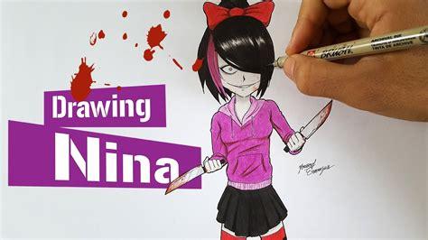 Drawing Nina The Killer From Creepypasta