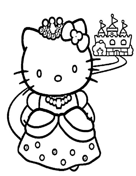 princess  kitty coloring pages ekids pages