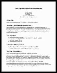 civil structural engineer resume sle civil engineer resume exles document