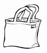 Clipart Bag Tote Carry Cliparts Clip Library sketch template