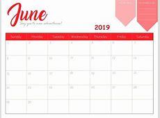 Free Printable June 2019 Calendar Calendar 2018