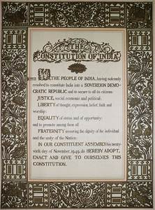 Who Wrote The Preamble To The Indian Constitution