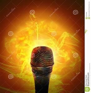 Hot Music Microphone Burning Stock Photo - Image: 29797998