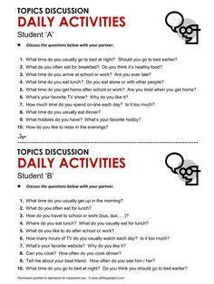 topics  discussion images speaking activities
