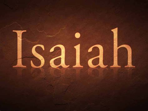 Image result for Isaiah in the Bible