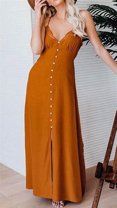 Dresses Lace Maxi Neck Sling