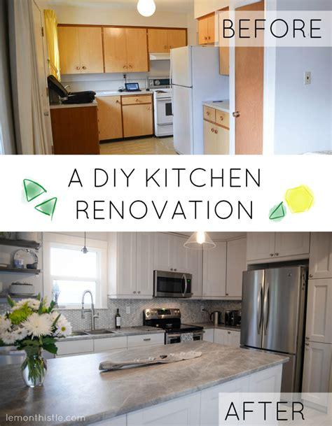 diy kitchen renovation before and after diy kitchen renovation lemon thistle