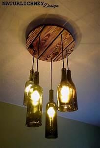 Lampe Aus Weinflasche. selbst gebaute lampe aus lampenschirm und ...