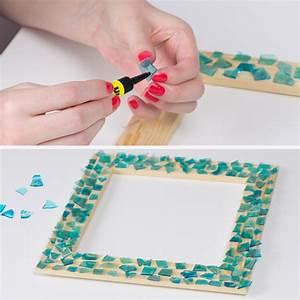 Rahmen Für Spiegel Selber Machen : basteltipp fotorahmen mit glas mosaik blog ~ Lizthompson.info Haus und Dekorationen