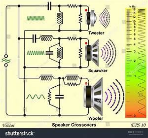 Speaker Crossovers Circuit Diagram Stock Vector 161084813