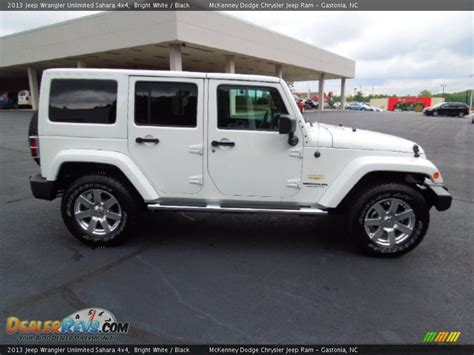 jeep wrangler white 4 2013 jeep wrangler unlimited sahara 4x4 bright white