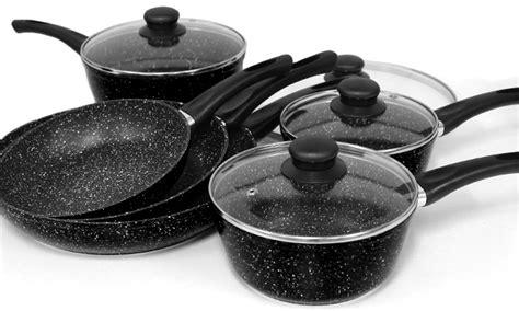 marble stone pots  pans groupon goods