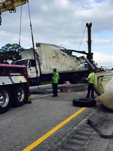 tanker truck roll spills 400 gallons of on florida turnpike wtvx