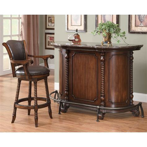 Bar Set Furniture by Traditional Bar Set In Cherry Coaster Furniture 1 Reviews