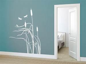 Wände Gestalten Farbe : wandtattoo schilf mit libellen im wind bei ~ Sanjose-hotels-ca.com Haus und Dekorationen