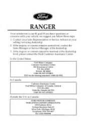 ford ranger manuals