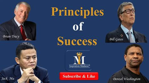 PRINCIPLES OF SUCCESS   By Brian Tracy, Jack Ma, Denzel ...